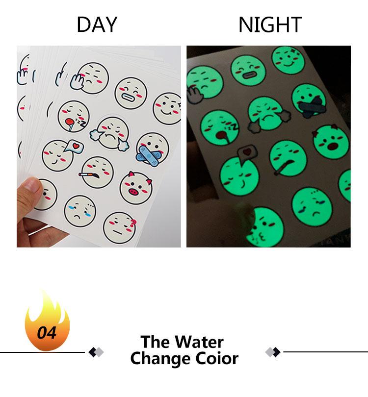 Nalepka indikatorja UV za spreminjanje barve